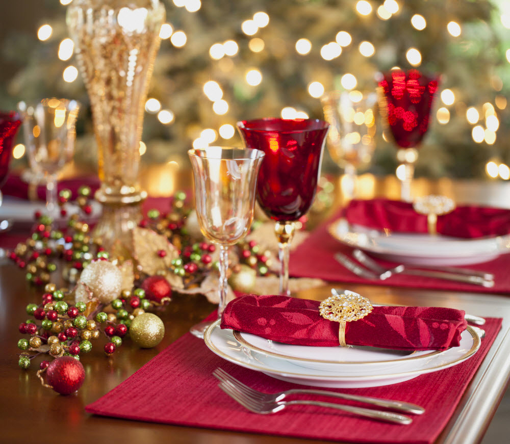 2019 Luxury Christmas Table Decorations In Eve