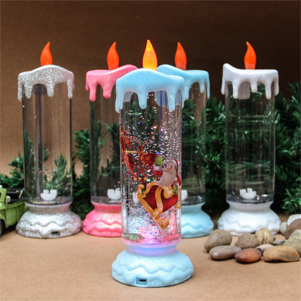 christmas colourful candles